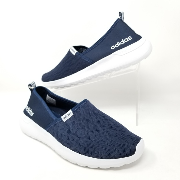 check out 8fa39 7d0b8 NEW Adidas CF Lite Racer Slip On Shoes Navy Blue